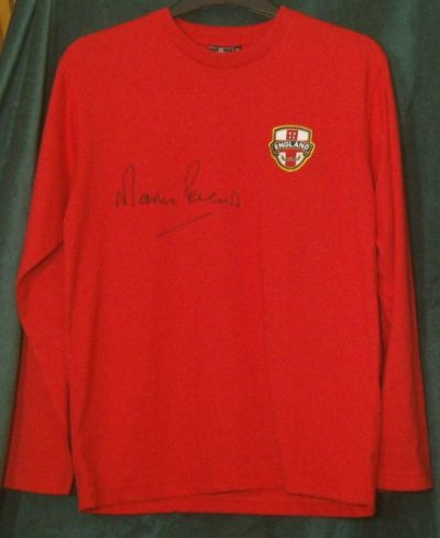 Martin Peters Autograph Signed Shirt - 1966 World Cup